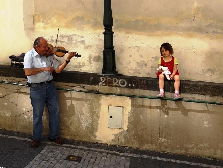 Straßenmusiker in Prag