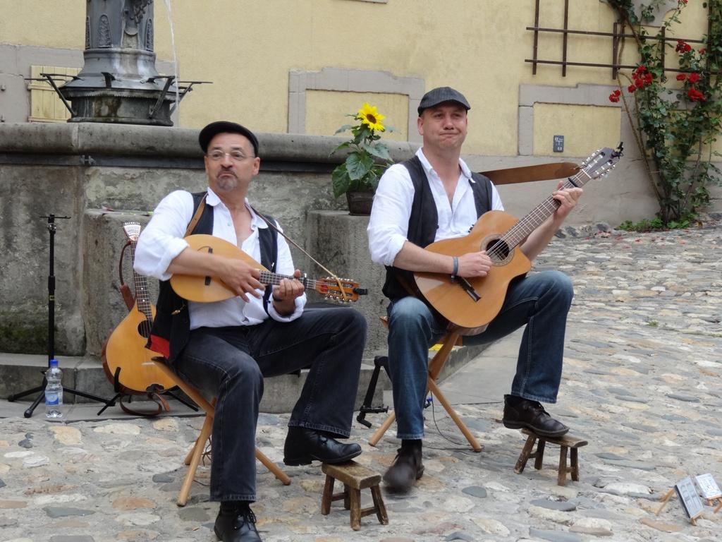 Straßen musiker in Rudolstadt