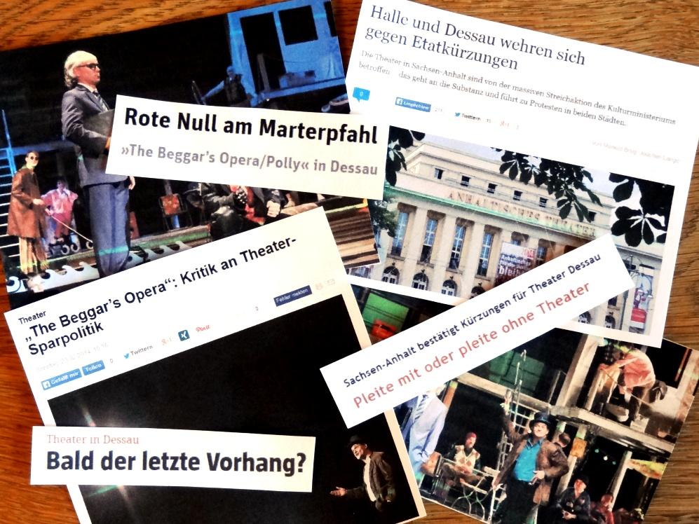 Collage zu Beggars Opera Dessau