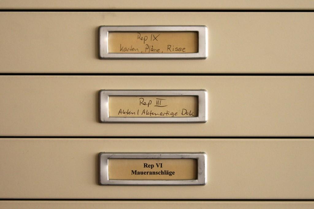 Aktenschränke im Dokumentenarchiv des Deutschen Historischen Museums