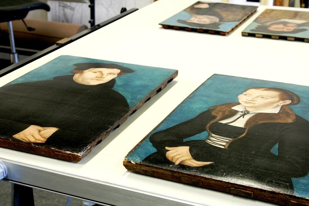 Martin Luther und Katharina von Bora, zum Greifen nah