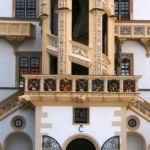 Wendelstein im Innenhof von Schloss Hartenstein