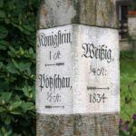 Postmeilenstein in Rathen
